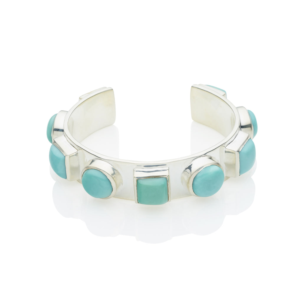Geronimo Cuff in Sterling Silver & Turquoise