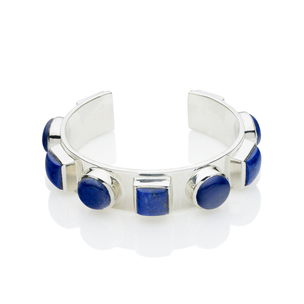 Geronimo Cuff in Sterling Silver & Lapis