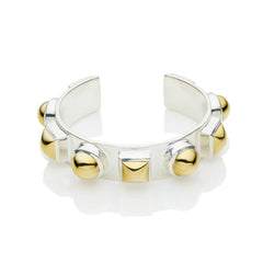 Geronimo Cuff in Sterling Silver & Gold Plate