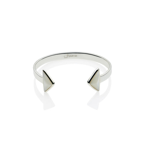 En Tribe Cuff in Sterling Silver & Mother of Pearl