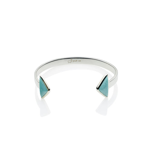 En Tribe Cuff | Turquoise with Sterling Silver