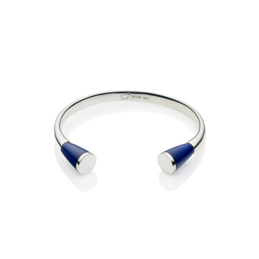 Comet Cuff in Sterling Silver & Lapis