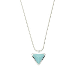 Asku Pendant | Turquoise and Sterling Silver