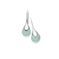 Masai Earrings in Sterling Silver & Amazonite