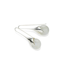 Masai Earrings in Sterling Silver & Moonstone