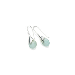 Mini Masai Earrings in Sterling Silver & Amazonite