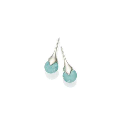 Mini Masai Earrings in Sterling Silver & Turquoise