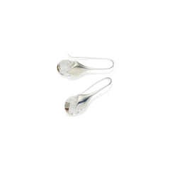 Mini Masai Earrings in Sterling Silver & Faceted Crystal