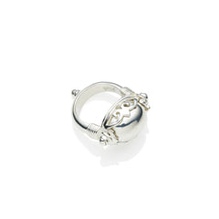 Empress Monarch Ring in Sterling Silver & Sterling Silver Cabochon