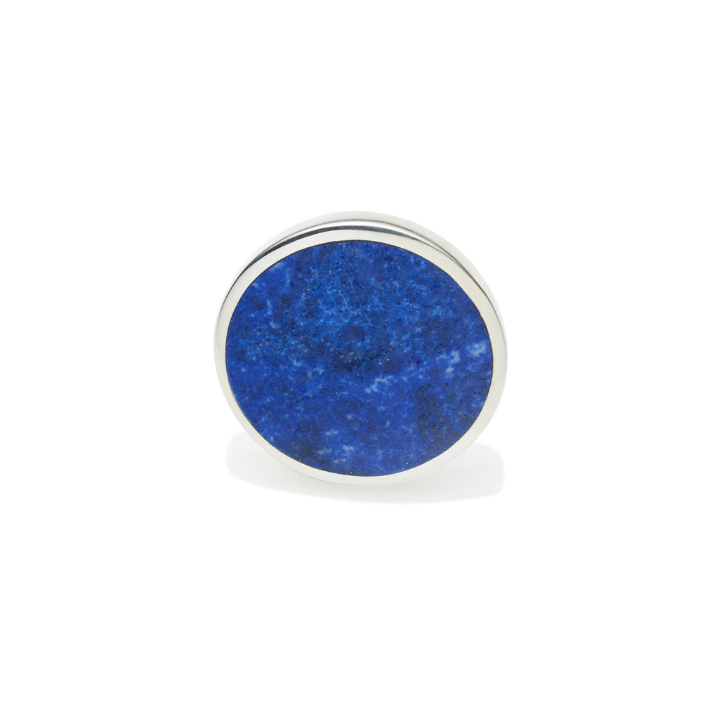 Full Moon Ring in Sterling Silver & Lapis
