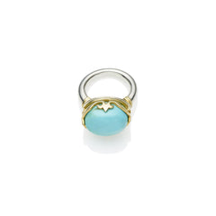 Princess Monarch Ring in Gold Plated Sterling Silver & Turquoise