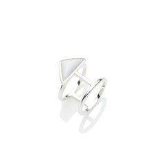 En Tribe Ring in Sterling Silver & White Agate