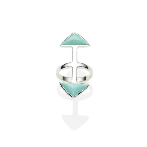 Axis Ring in Sterling Silver & Turquoise