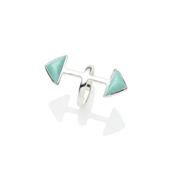 Axis Ring | Turquoise and Sterling Silver