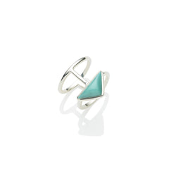 En Tribe Ring in Sterling Silver & American Turquoise