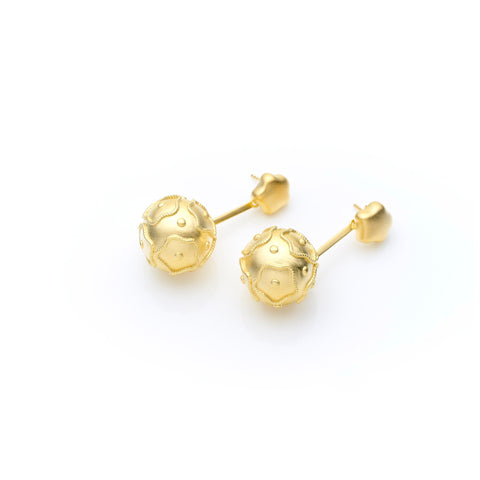Aziza Earring | Brass with Gold Plate