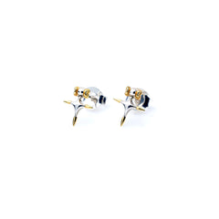 Didia Studs | Sterling Silver with Gold Plate Tips