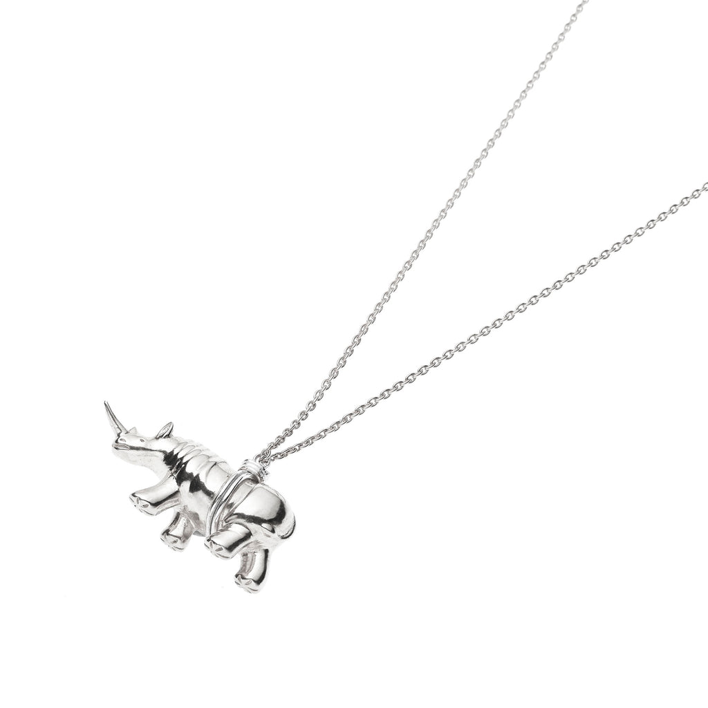 Rhino Necklace | Sterling Silver