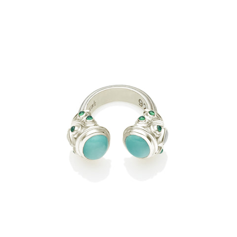Shahaka Ring in  Sterling Silver & Sleeping Beauty Turquoise