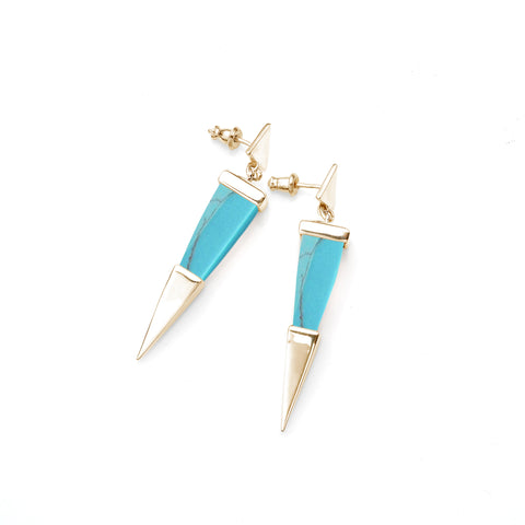 Shard Earring | Gold Plate and Turquoise