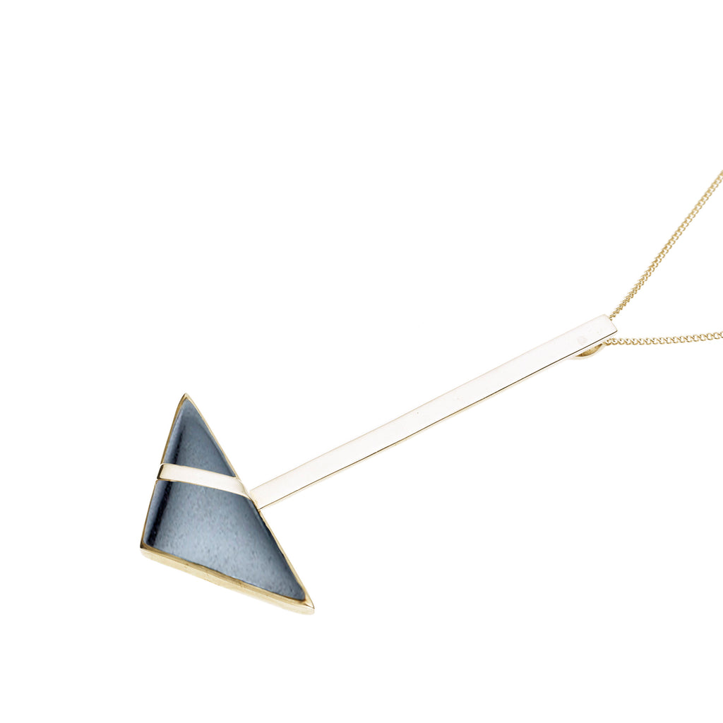 Su Necklace | Hematite with Gold Plate