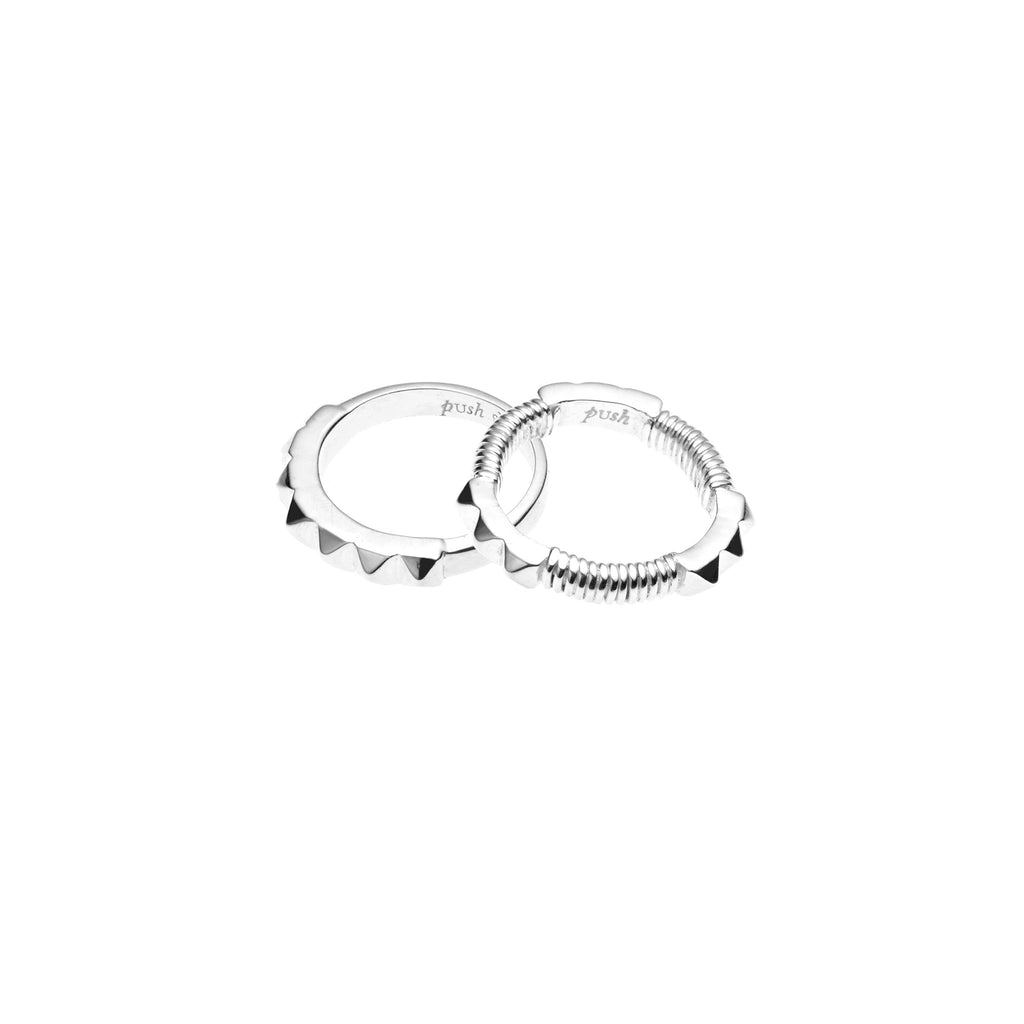 Sun Gaze Ring Set | Sterling Silver