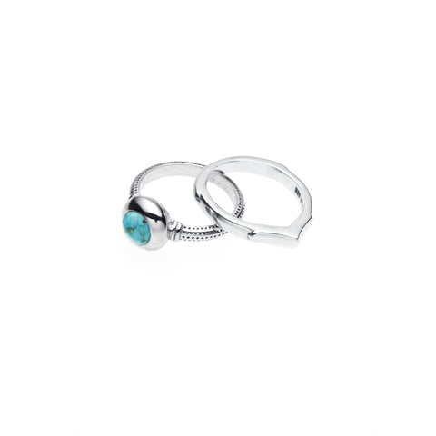 Terra Ring Set | Turquoise and Sterling Silver