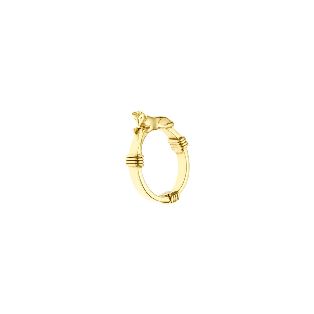 Wolf Ring | Gold Plate
