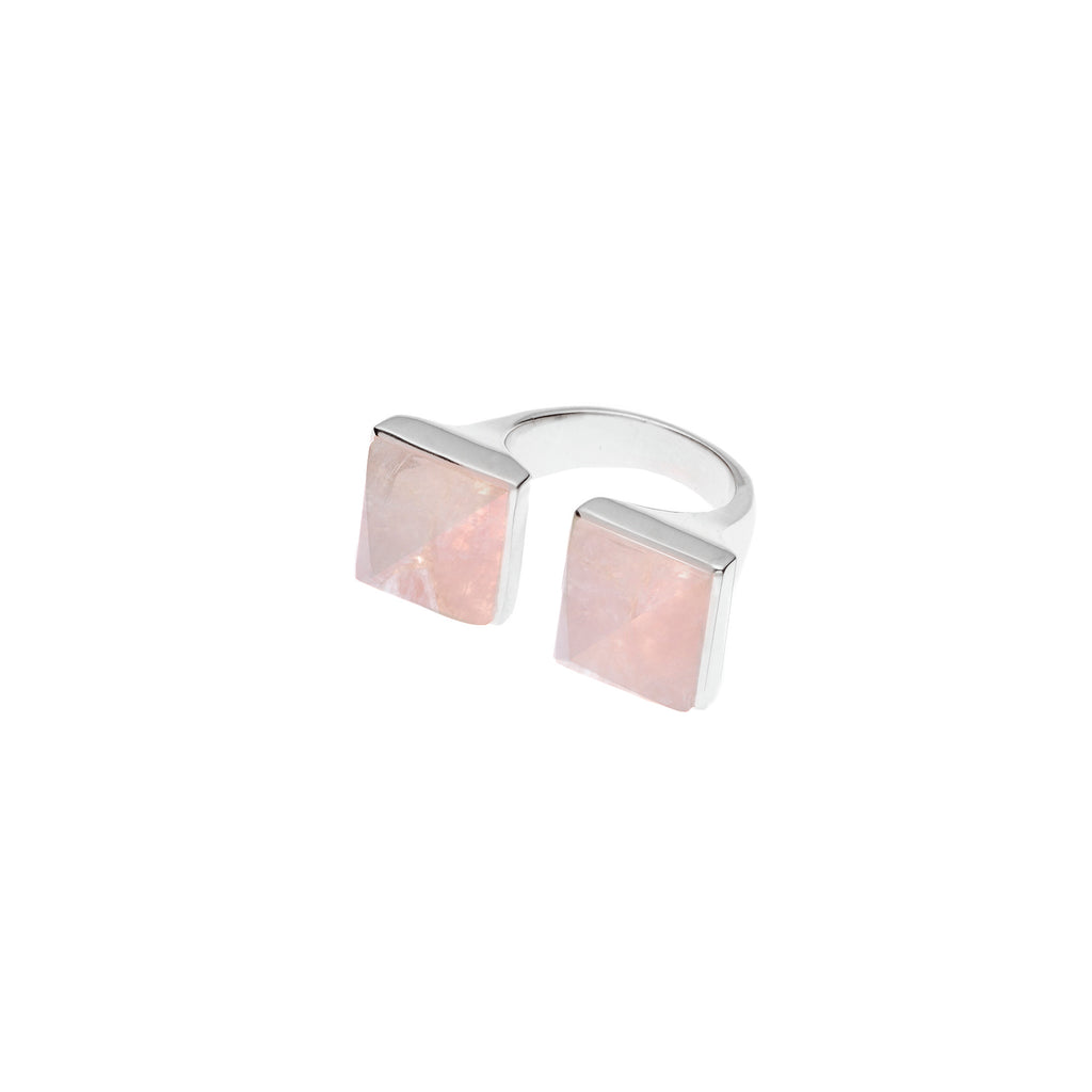 Twin Spirit Ring | Rose Quartz