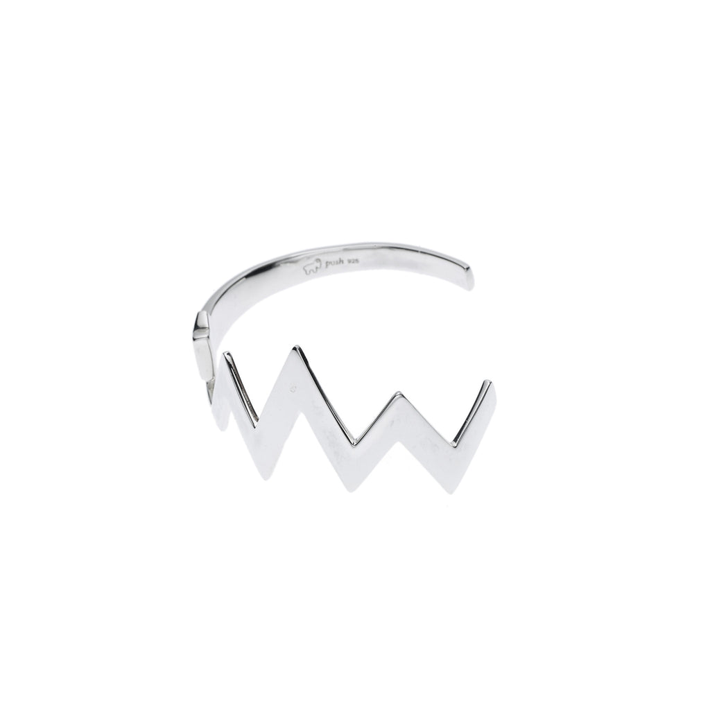 Warrior Cuff in Sterling Silver