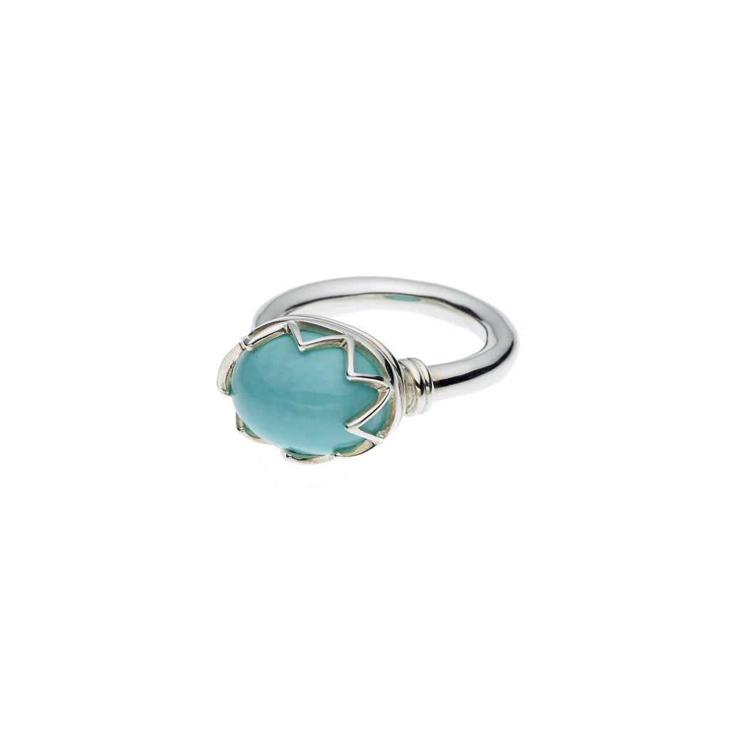 Warrior Monarch Ring in Sterling Silver & American Turquoise