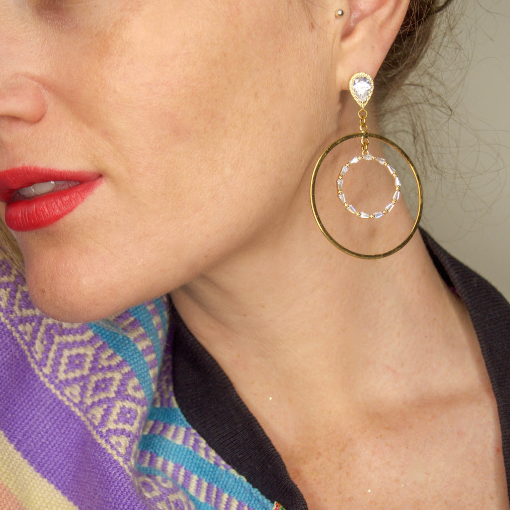 Iris, earrings, Tinka the Label