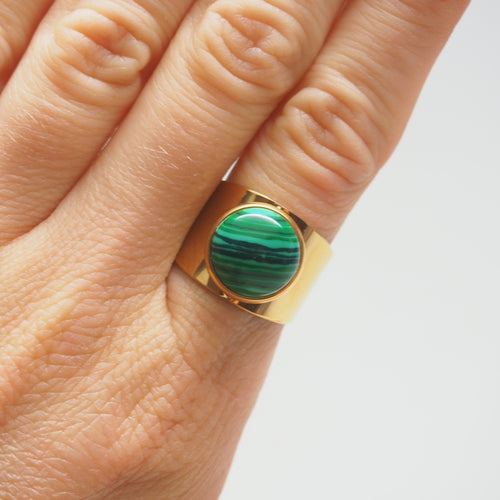 Love Stoned ring - Malachite