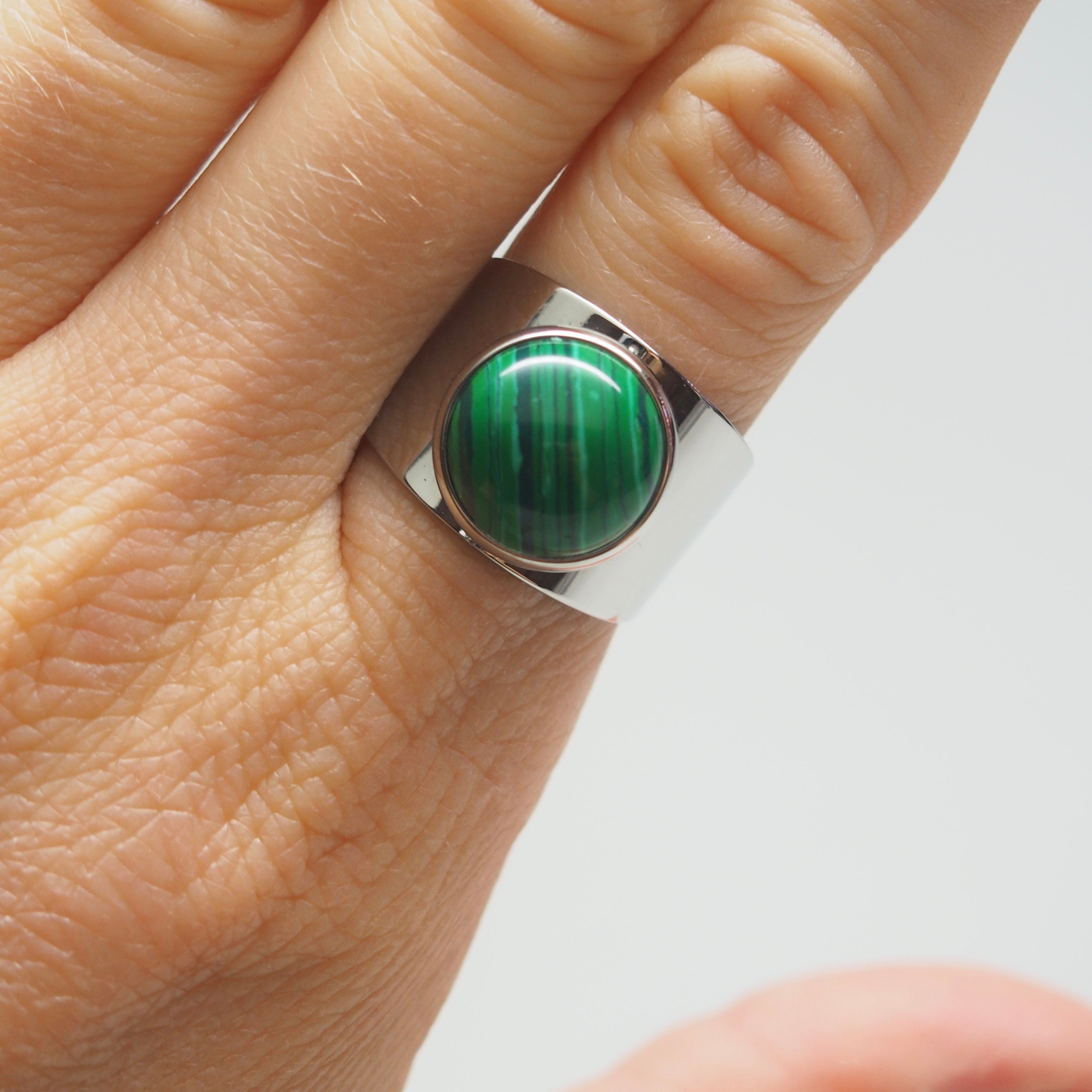 Love Stoned ring - Malachite, Ring, Tinka the Label