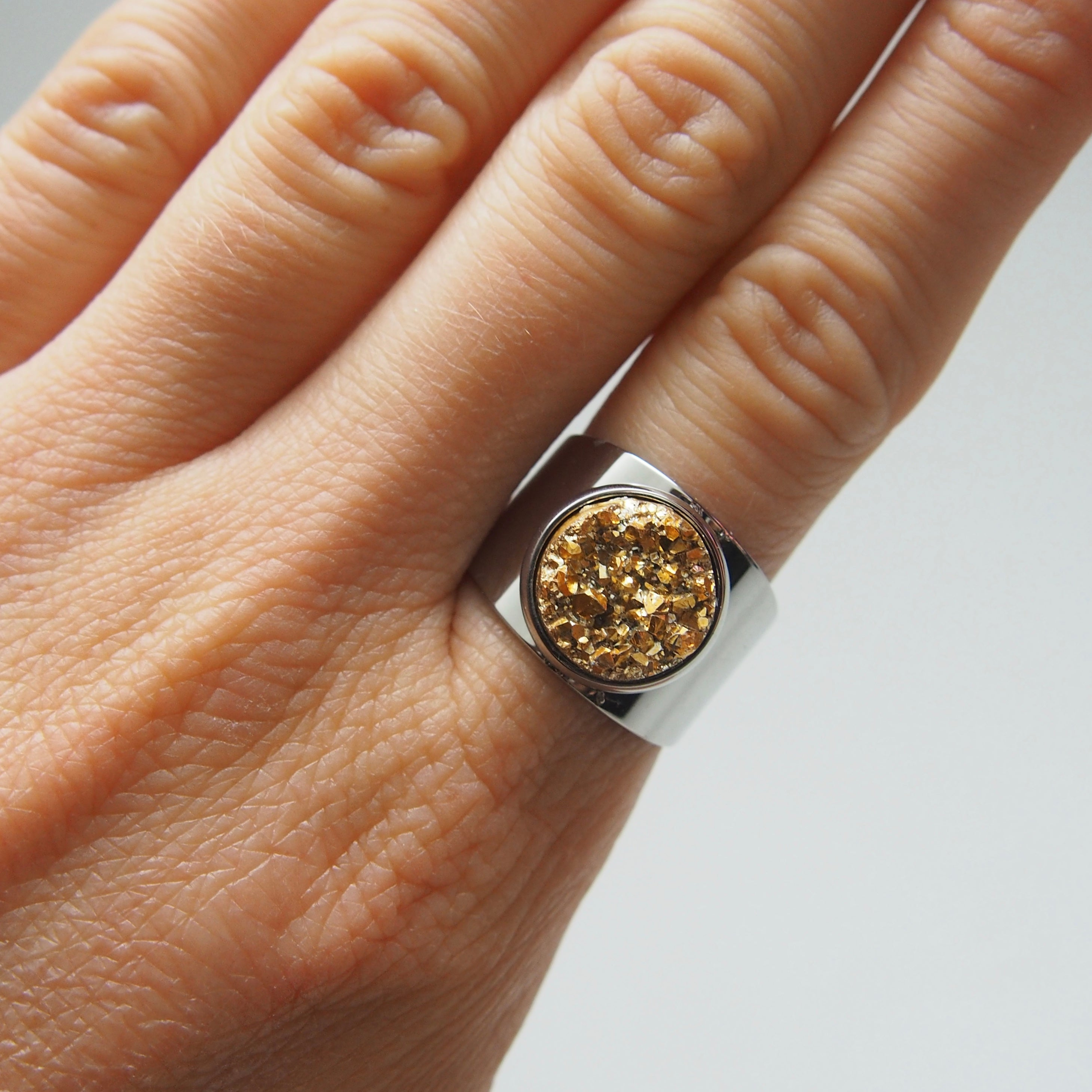 Stars in their Eyes ring - gold, Ring, Tinka the Label