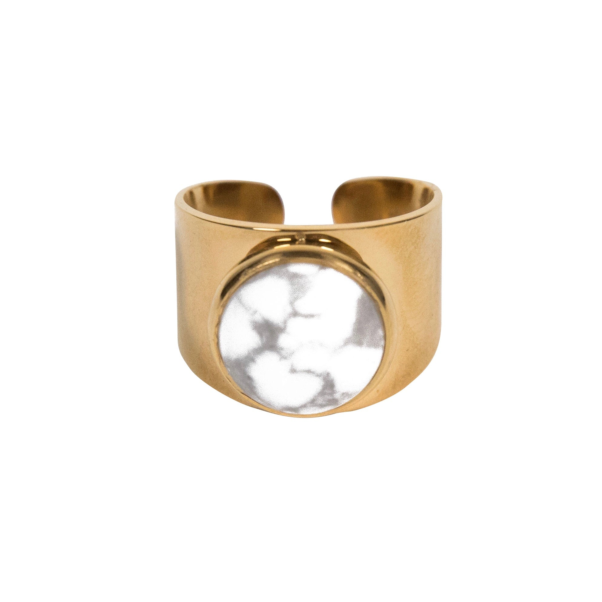 Love Stoned ring - Howlite, Ring, Tinka the Label
