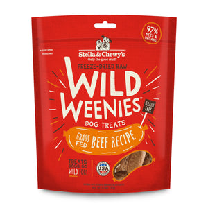 Stella & Chewy's Wild Weenies Freeze-Dried Beef Dog Treats 3.25oz