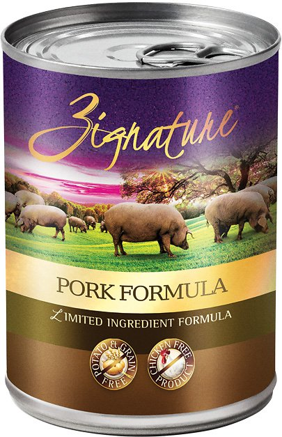 Zignature Grain Free Pork Can 13oz