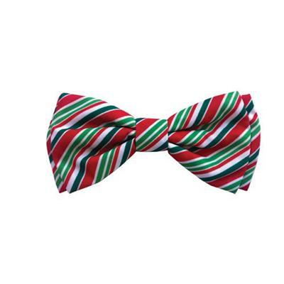 HUXLEY & KENT Christmas Candy Cane Bow Tie