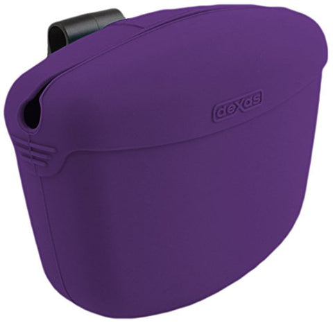Dexas Pooch Pouch Clip-On Training Treat Container Purple