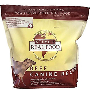 Steve's Real Food Beef Canine Recipe for Cats and Dogs 1lb