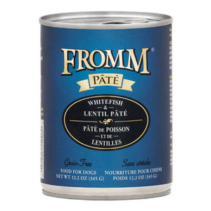 Fromm Whitefish & Lentil Pate Dog Can 12.2oz