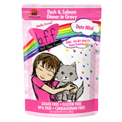 BFF OMG Date Nite! Duck & Salmon Dinner in Gravy Grain-Free Cat Food Pouches, 2.8-oz