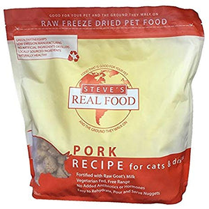 Steve's Real Food Freeze-Dried Pork Recipe for Cats and Dogs