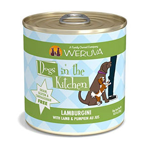 Weruva Dogs in the Kitchen Lamburgini with Lamb & Pumpkin Au Jus Grain-Free Canned Dog Food, 10-oz can