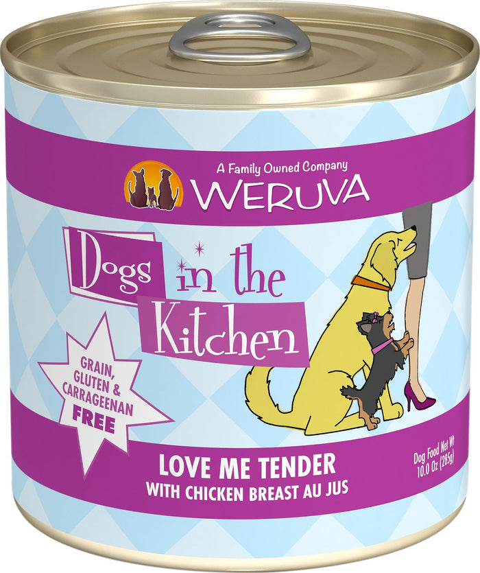 Weruva Dogs in the Kitchen Love Me Tender with Chicken Breast Au Jus Grain-Free Canned Dog Food, 10-oz can