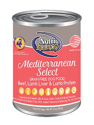 Nutrisource Mediterranean Select Dog Food 13oz Can