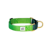 Dog + Bone Martingale Collar Greenery & Forest