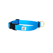 Dog + Bone Snap Collar Blue