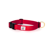 Dog + Bone Snap Collar Red